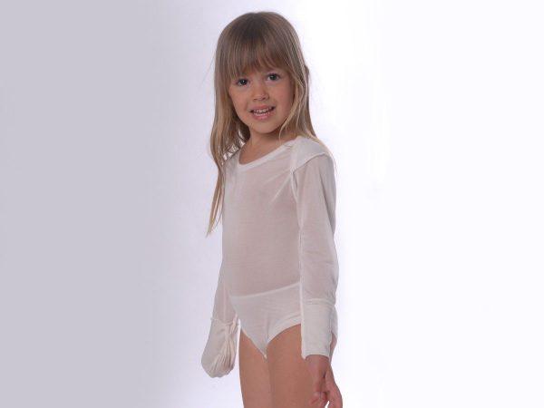 DermaSilk Infant Body Suit With Folding Gloves