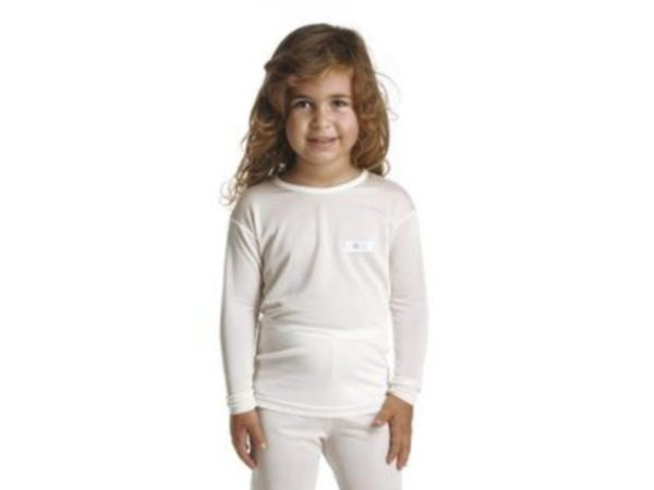 DermaSilk Children's Round Neck Long Sleeve Top