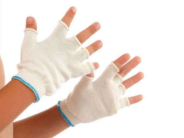 DermaSilk Child's Fingerless Gloves