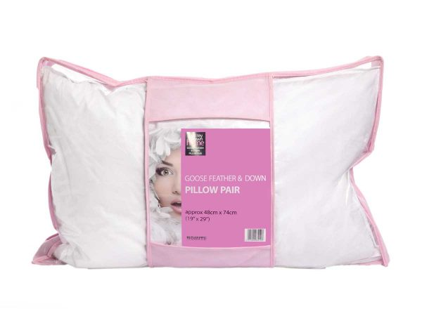 Pillows in packaging