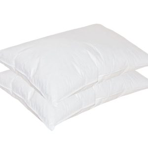 Dust Mite Proof Goose Feather and Down Pillows Medium (2 pack)