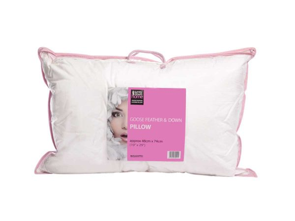 Feather and down pillow in pack