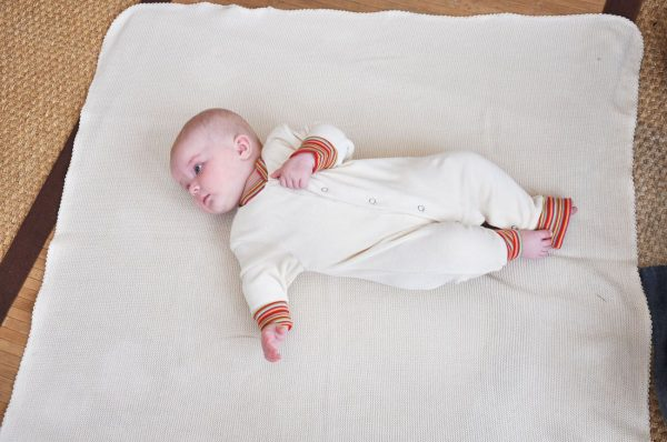 Organic Cotton Fine Knitted Blanket - Baby