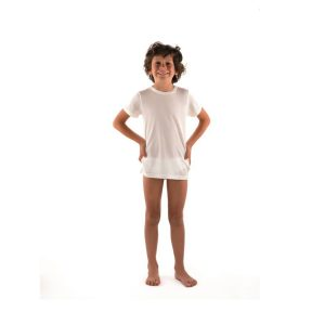 DermaSilk® Children's Round Neck Short Sleeve Top