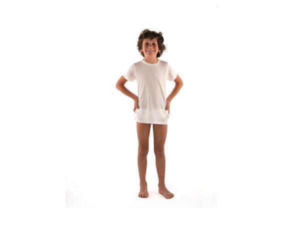 DermaSilk® Children's Round Neck Short Sleeve Top