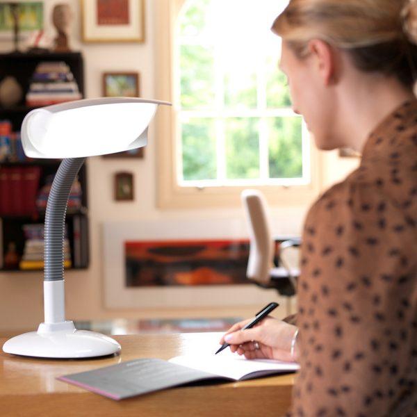 Lumie Desklamp at home