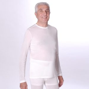 DermaSilk Men's Round Neck Long Sleeve Top