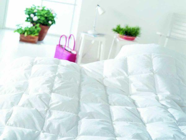 Duvet on bed