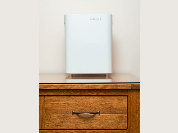 MeacoClean CA-HEPA 47x5 Air Purifier on a surface