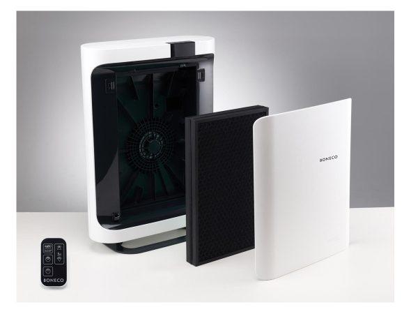 Boneco P500 showing filters
