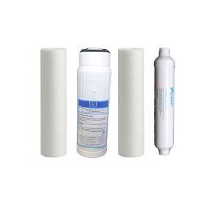 1 & 5 micron sediment filter, carbon filter and mineralizing filter