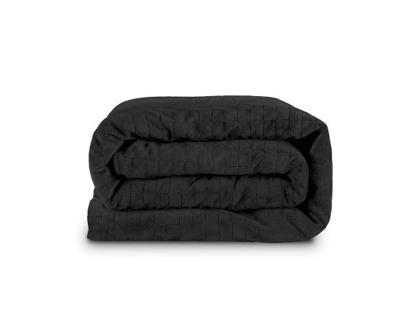 dark grey weighted blanket