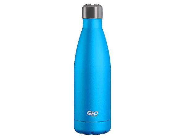 geo stainless steel water bottle blue