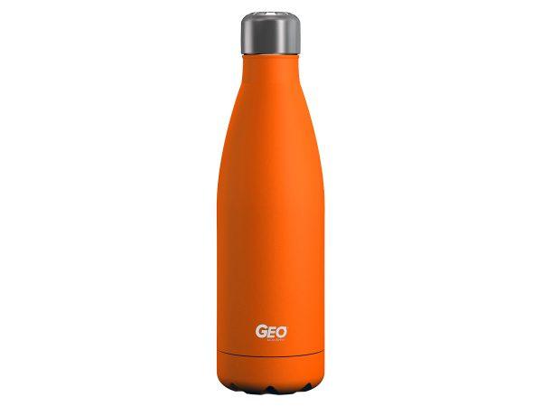 geo stainless steel water bottle orange