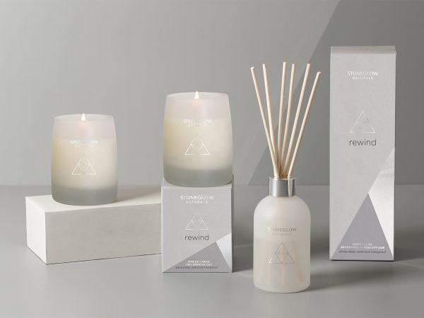 stoneglow rewind candle reed diffuser