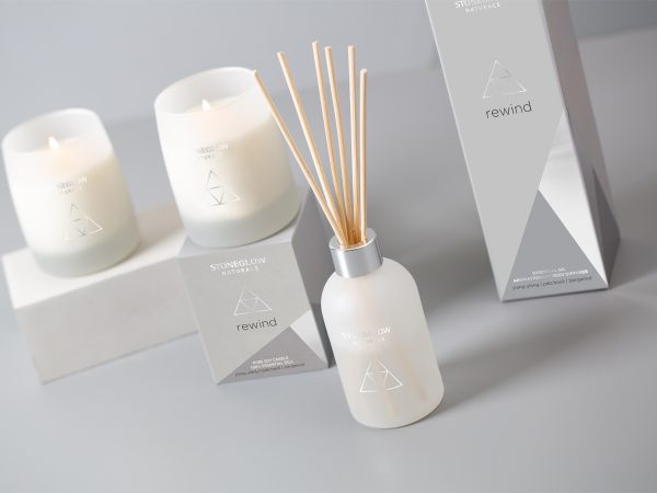 stoneglow rewind candles reed diffuser